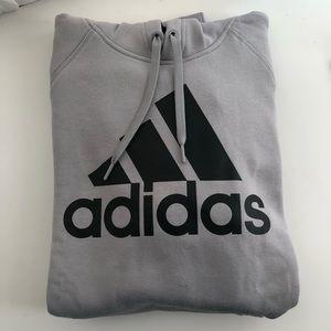 Men's Adidas gray pullover sweatshirt / hoodie